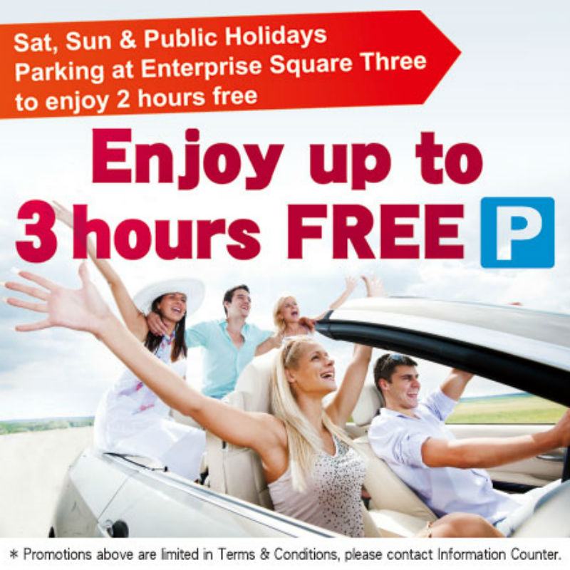 3 HOUR FREE PARKING OFFER