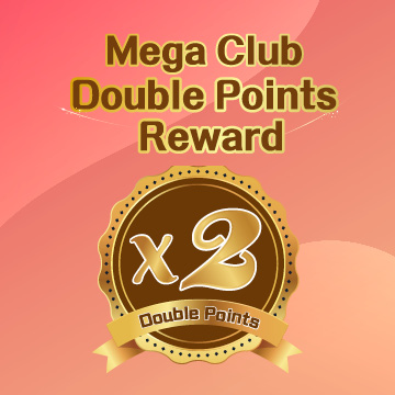 Mega Club Double Points Reward